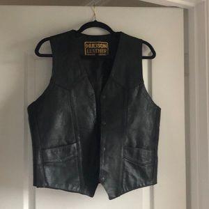 Hudson Leather Black Vest